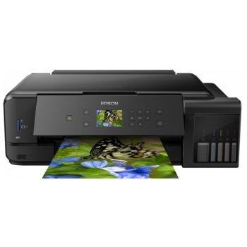 Мултифункционално мастиленоструйно устройство Epson EcoTank L7180, цветен принтер/копир/скенер, 5760 x 1440 dpi, 28 стр./мин., Wi-Fi, LAN, USB, A3, двустранен печат image