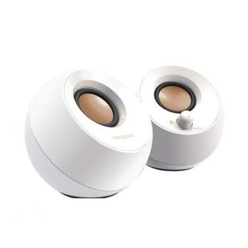 Тонколони Creative Pebble, 2.0, RMS 4.4W, 3.5mm жак, USB, бели image