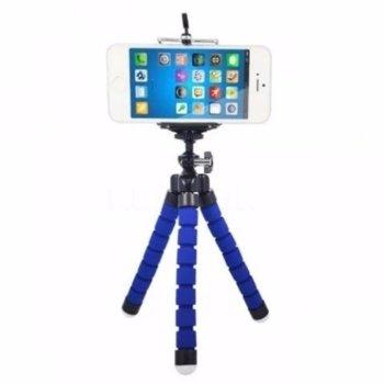 Мини трипод Digital One SP01034, универсален, висoчина 18см, син image