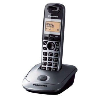 """Безжичен телефон Panasonic KX-TG2511G, 1.4""""(3.55cm) дисплей, еко функция, адресна памет за 50 номера, сив image"""