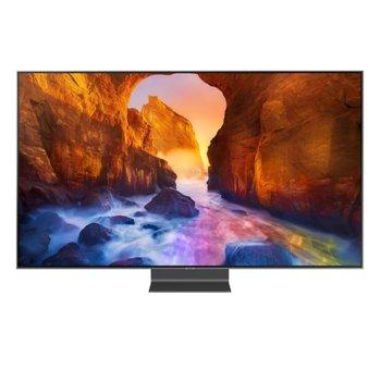 "Телевизор Samsung QE75Q90RATXXH, 75"" (190.5 cm) 4K ULTRA HD Smart QLED, HDR 10+, DVB-T2/C/S2, Wi-Fi, LAN, 4x HDMI, 2x USB, черен image"