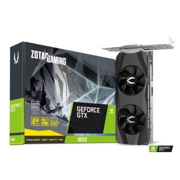 Видео карта Nvidia GeForce GTX 1650, 4GB, ZOTAC Gaming Low Profile (ZT-T16500H-10L), PCI-E 3.0, GDDR5, 128bit, DisplayPort, HDMI, DVI-D image