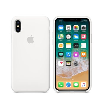 Apple iPhone X Silicone Case - White product