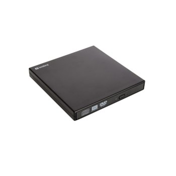 Оптично устройство Sandberg, външна, USB, DVD-RW, черно image