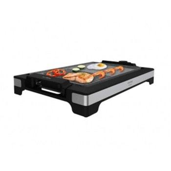 Електрическа скара Cecotec TastyGrill 2000 Inox MixStone, незалепваща плоча, регулируем термостат с 5 различни нива на мощност, подвижни елементи, 2000W image