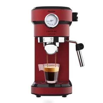 Кафемашина Cecotec Cafelizzia 790 Shiny, 1350W, 20 bar, капацитет на резервоара за вода 1.2л., светлинен индикатор, Thermoblock, червена image