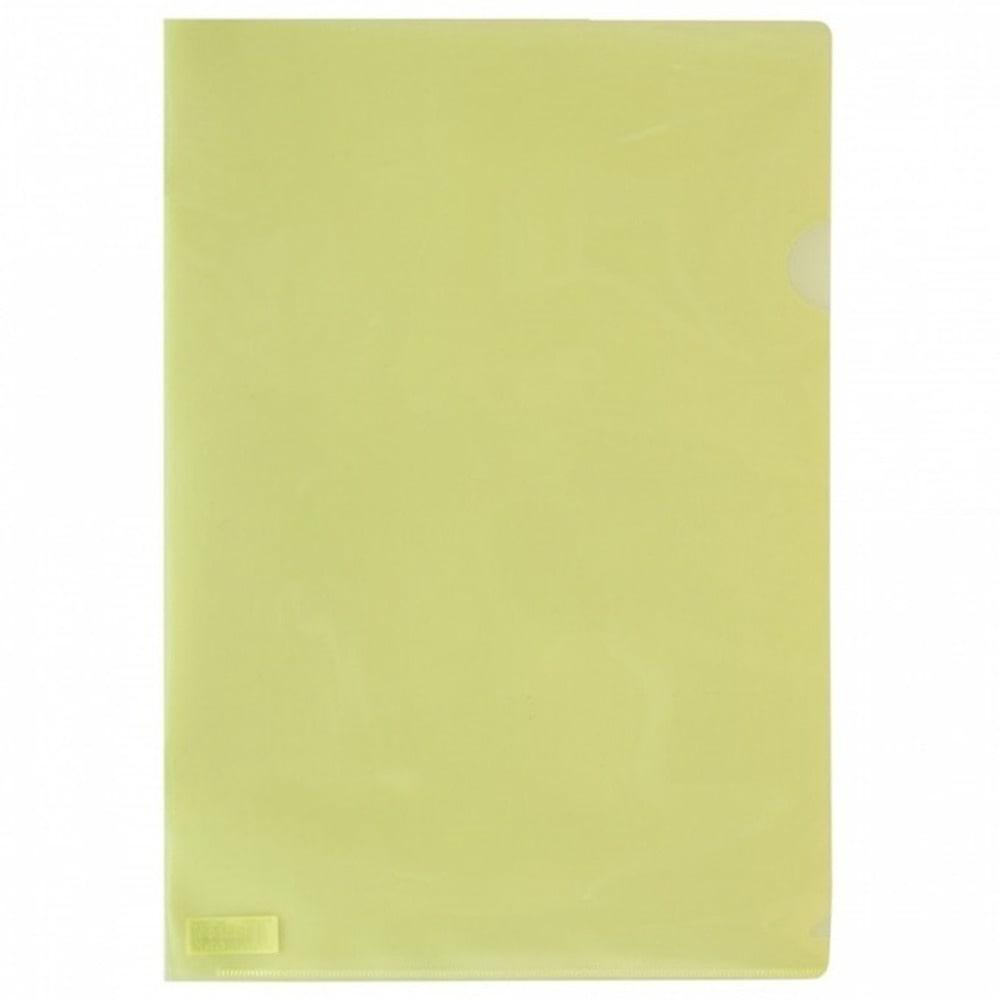 Джоб Office Point, L-oбразен, за документи с формат до А4, жълт, продава се в опаковка от 100бр. image