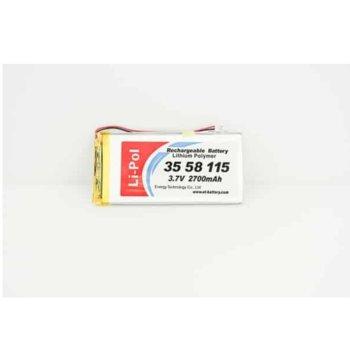 Литиева батерия LP3558115-PCM, 3.7V, 2900mAh, Li-polymer, 1бр. image