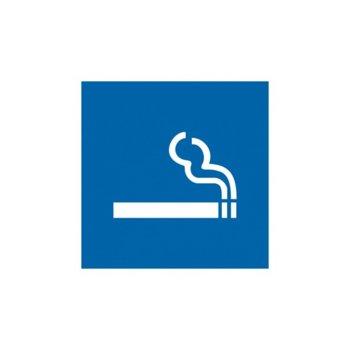 """Самозалепващ знак """"Място за пушене"""", с два начина на залепване image"""