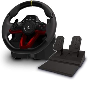 Волан с педали HORI Wireless Racing Wheel Apex, за PC/PS4, безжичен, Bluetooth, черен image
