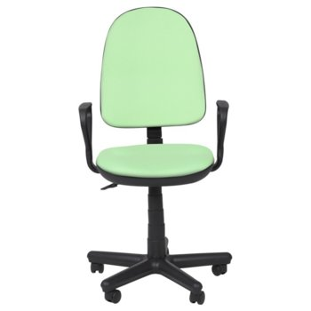 Офис стол Carmen Comfort, дамаска, подлакътници, газов амортисьор, заключване, зелен image