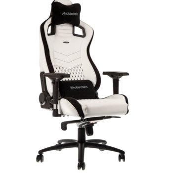 Геймърски стол noblechairs EPIC, Eĸo ĸoжaтa, бял/черен image