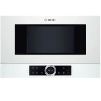 Микровълнова фурна Bosch BFL634GW1, за вграждане, електронно управление, 900 W, 21 л. обем, 5 степени на мощност, бяла image