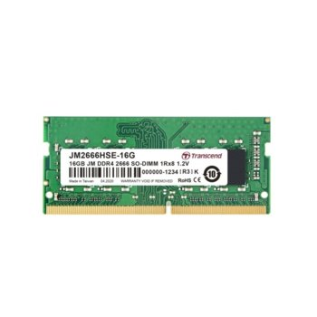 Памет 16GB DDR4 2666MHz, SO-DIMM, Transcend JM2666HSE-16G, 1.2V image