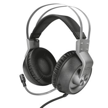 Слушалки Trust GXT 430 Ironn, микрофон, съвместими с PS4/XboxOne/Switch/Mobile/PC, 3.5mm жак, сиви image