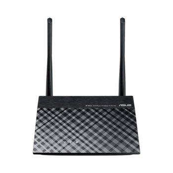 Рутер Asus RT-N12+, 300Mbps, 2.4GHz(300 Mbps), Wireless N, 4x LAN 100, 1x WAN 100, 2x външни антени image