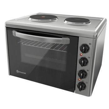 Готварска печка мини Елдом 203VF-NEW, клас А, 38л. обем на фурната, 3400 W, инокс image