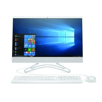 "All In One HP 24-df0001nu (107G6EA)(бял), четириядрен Ice Lake Intel Core i5-1035G1 1.0/3.6 GHz, 23.8"" (60.45 cm) Full HD IPS Anti-Glare Display GF , 16GB DDR4, 256GB SSD, 2x USB 3.0, клавиатура и мишка, Free DOS image"