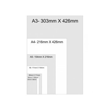 Фолио за ламиниране, размер 80x111 mm, 125 mic, 100бр. image