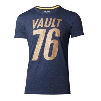 Тениска Bioworld Fallout 76 Golden 76, размер S, синя image