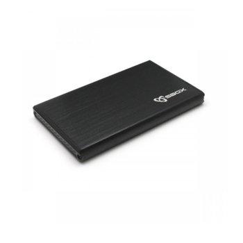 """Кутия 2.5""""(6.35 см) SBOX HDC-2562B, за 2.5"""" (6.35 см) HDD/SSD, SATA III, USB 3.0, до 2TB, черна image"""