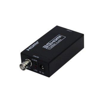Конвертор, HDMI към BNC (SDI/HD-SDI/3G-SDI), черен image
