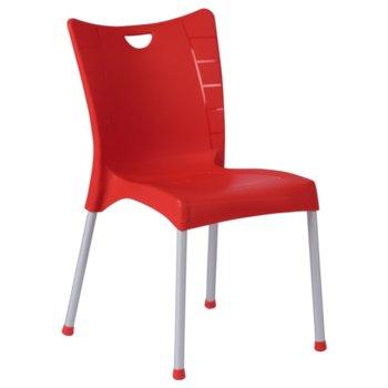 Градински стол Carmen ACELYA, полипропилен, червен image