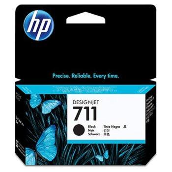 ГЛАВА HEWLETT PACKARD Designjet T120 / T520 ePrinter series - Black - (711) - P№ CZ129A - Заб.: 38ml image