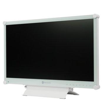 """Монитор AG NEOVO MX-24, 23.6""""(59.94 cm), TN LED панел, FullHD, 5ms, HDMI, DVI, DisplayPort, VGA, бял image"""