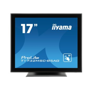 "Дисплей Iiyama T1732MSC-B5AG, тъч дисплей, 17"" (43.18 cm), SXGA, HDMI, VGA, Displayport image"