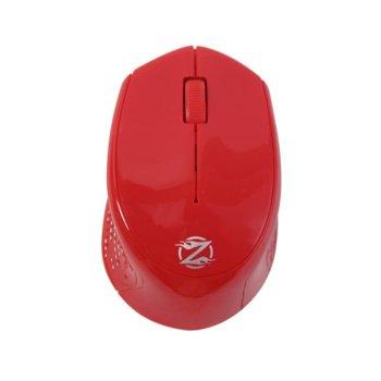 Мишка ZornWee W770, оптична (1600 dpi), безжична, USB, червена image