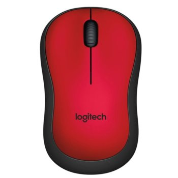 Мишка Logitech M220 Silent, оптична (1000dpi), безжична, червена image