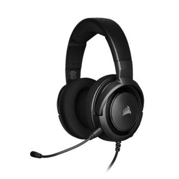 Слушалки Corsair HS35 Carbon, микрофон, геймърски, 3.5 mm jack, черни image