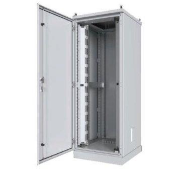 """Комуникационен шкаф Security Professionals MR.IP55G42U66.03, 19"""", 42U, 600 x 600 x 2117, свободностоящ, заземителен комплект за вратата, триточково заключване, сив image"""