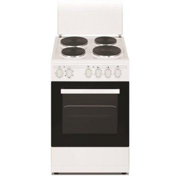 Готварска печка Arielli C-5060FL, 43 л. обем на фурната, 4 нагревателни зони, 5 функции, бяла image