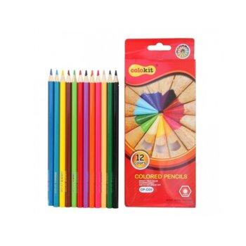 Цветни моливи Colokit CP-C09 дълги, 12 броя image