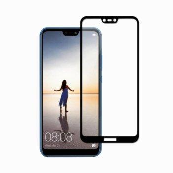 Протектор от закалено стъкло /Tempered Glass/, за Huawei P30, черна рамка image