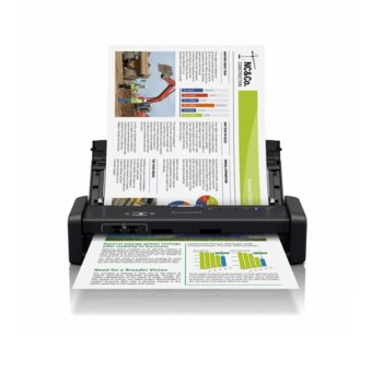 Преносим скенер Epson WorkForce DS-360W, 1200 x 1200 dpi, A4, двустранно сканиране, ADF, Wi-Fi, microUSB 3.0 image