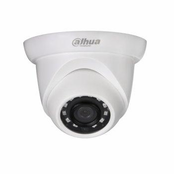 IP камера Dahua IPC-HDW1230S-0280B, куполна камера, 2MPix(1920x1080@25fps), 2.8mm обектив, H.265/H.264H/MJPEG, IR осветеност (до 30 метра), външна IP67, PoE, RJ-45 image