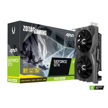 Видео карта Nvidia GeForce GTX 1660 Super, 6GB, ZOTAC AMP Edition (ZT-T16620D-10M), PCI-E 3.0, GDDR6, 192bit, 3x DisplayPort, HDMI image