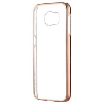 Калъф за Galaxy S7 Edge, страничен протектор с гръб, термополиуретан, Devia Glitter, златист image