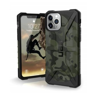 Калъф за Apple iPhone 11 Pro, хибриден, Urban Armor Pathfinder Camo 111707117271, удароустойчив, тъмнозелен камуфлаж image