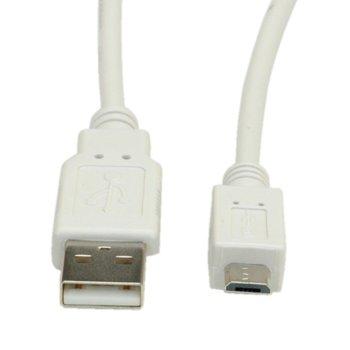 Кабел Roline S3153-100, USB2.0 A(м) към USB Micro B(м), 3 m, бежов image