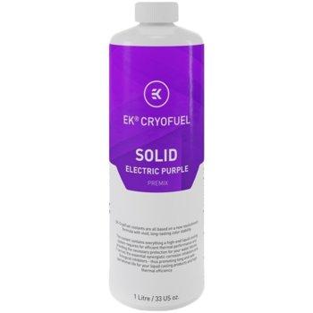 Течност за водно охлаждане Ekwb EK-CryoFuel Solid Electric Purple Premix, 1000ml, лилава image