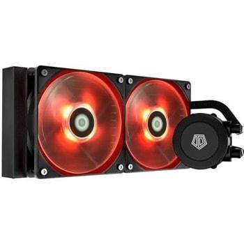 Водно охлаждане за процесор ID-Cooling Frostflow 240 Red LED, съвместимост със сокети LGA 2066/2011/1200/115X & AMD AM4 image