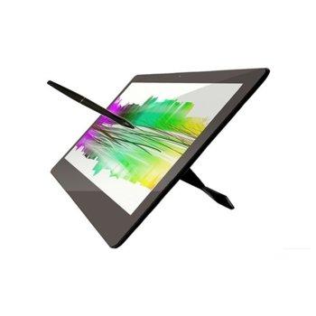 """Графичен таблет YIYNOVA MVP16U+DF(черен), 15.6"""" (39.62 cm) Full HD IPS LED панел, 230 PPS, 6000 LPI, 25ms, 2048 нива на натиск, 1x HDMI, 1x USB 2.0 image"""