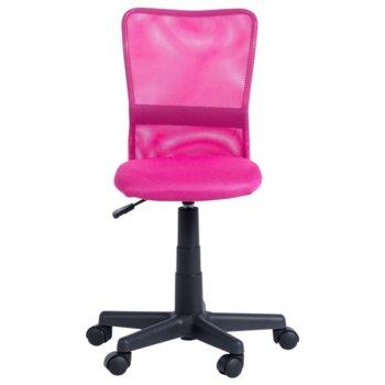 Детски стол Carmen 7028, мрежа, газов амортисьор, полипропиленова база, коригиране на височина, розов image