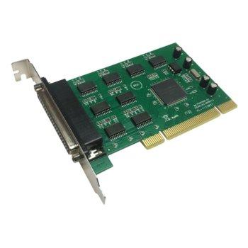 Контролер Makki MAKKI-PCIE-8XSERIAL-V1, от PCI x1(м) към 8x Serial port(DB-9)(м) image