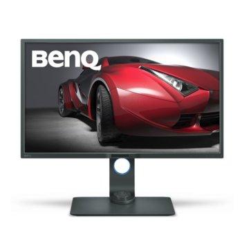 """Монитор BenQ PD3200U (9H.LF9LA.TBE), 32"""" (81.28 cm) IPS панел, 4К, 4ms, 20 000 000:1, 350cd/m2, DisplayPort, HDMI, DVI, VGA, USB image"""