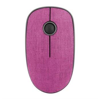Мишка NGS Evo Denim, оптична (1200 dpi), безжична, USB, текстилно покритие, розова image